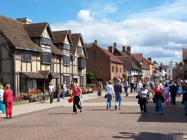 Stratford-upon-Avon, England...loved Drucker's, the coffee shop across the street from the Shakespeare Birthplace.