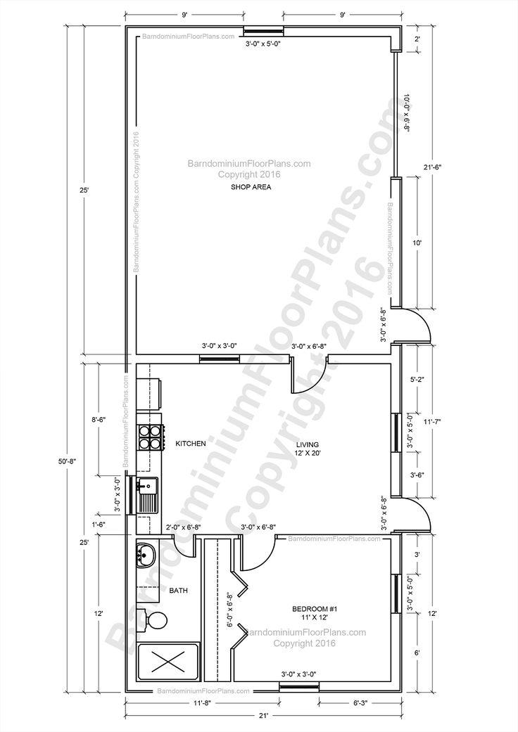 59 best pole barn ideas images on pinterest barndominium for Metal pole barn plans