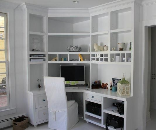 Here at CustomMade, our Makers can transform your home office with custom cabinets, drawers, and features.