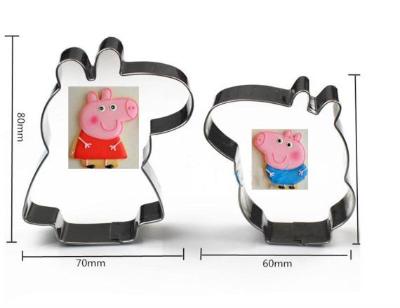 Peppa Pig Cookie Cutter Peppa Pig Cookies George by ChainsJewelry