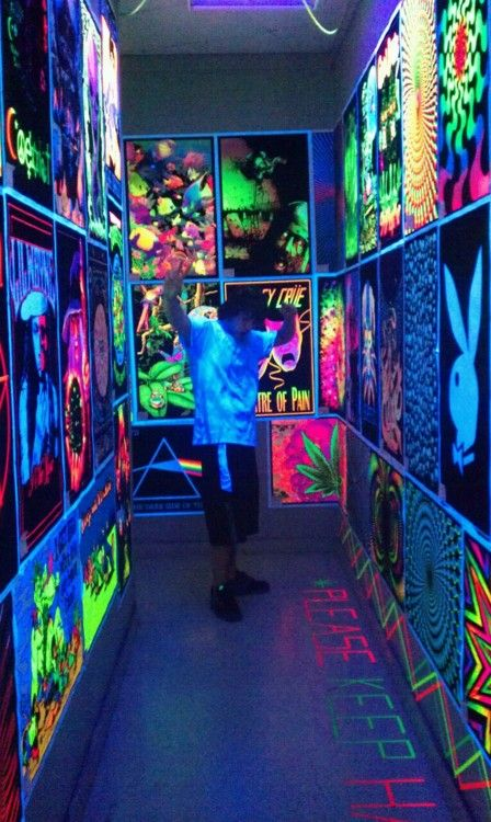 Blacklight Poster Display Room