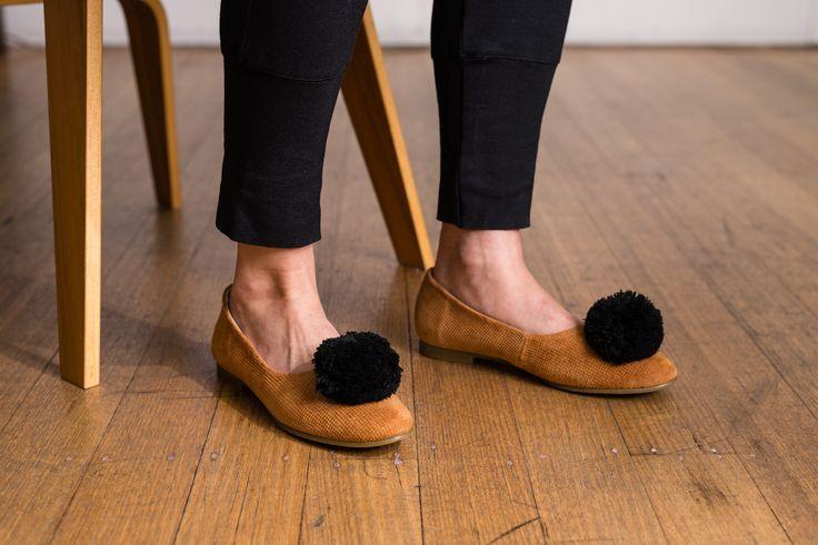 Radical Yes, 'Double Wonder' Embossed pom pom shoe