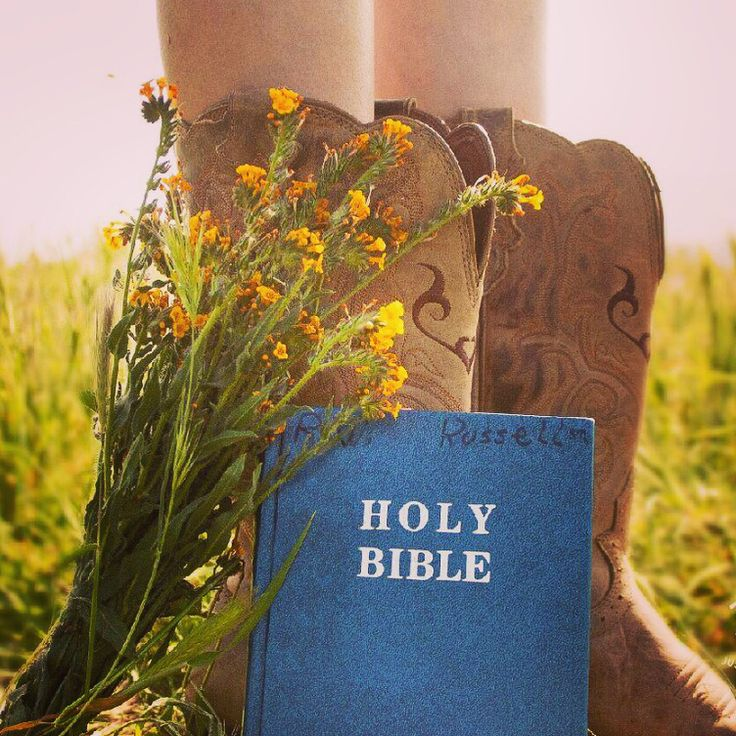 Senior pictures, with Grandpa's Bible, cowgirl boots and wild flowers.             Photo credits: Justin Ramos Photography