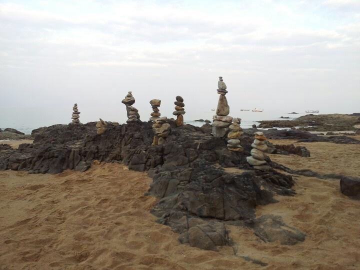 Piles of stones