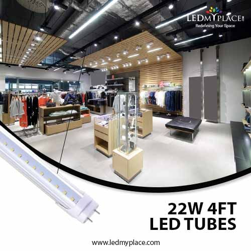 You Can Use These 4ft 22w T8 Led Tube At A Commercial And Residential Place As Well These Lights Come With The Led Tubes Led Tube Light T8 Led Tube