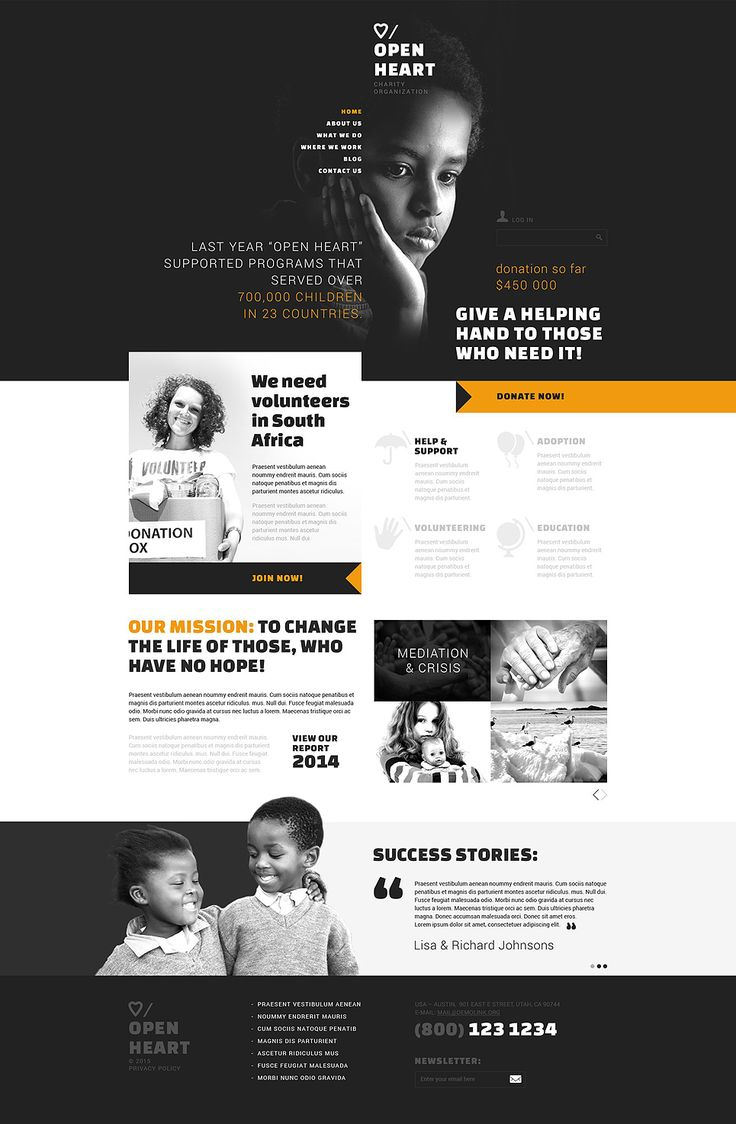 Charity WordPress Templates