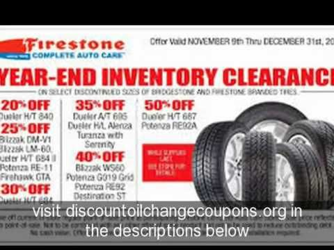 Places to find Free and Printable Firestone Coupons for Oil change 2015