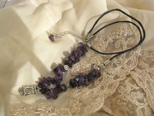 Amethyst Wise Owl necklace - Amethyst gemstone and Wise Owl charm together make this a really meaningful jewellery necklace