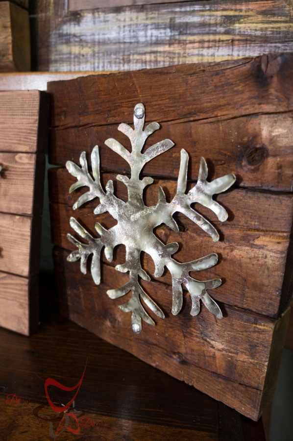 Our Power Tool Challenge theme this month was Holiday, so I decided to make Rustic Holiday Decor Snowflakes. by DeDe Bailey