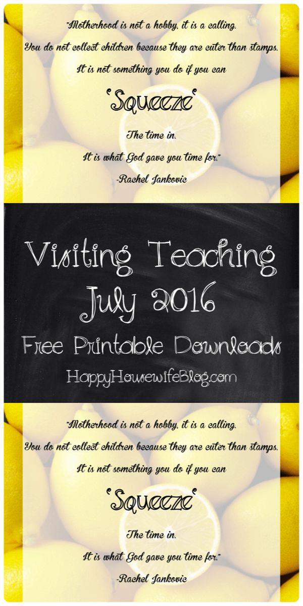 Visiting Teaching Handout July 2016