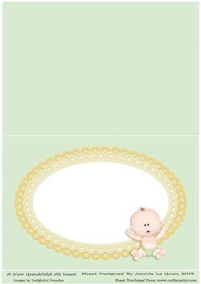 A New Grandchild A5 insert on Craftsuprint - Add To Basket!