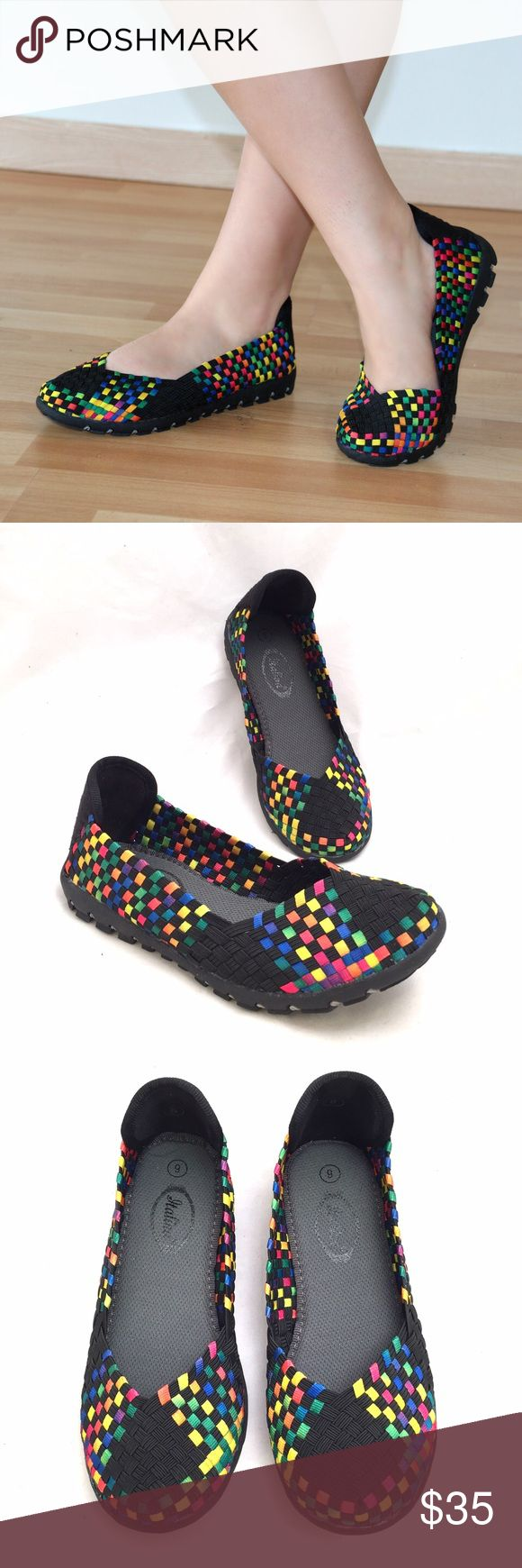 Italina Memory Foam Sneakers Extremely comfortable! Style meets comfort in these very cute sneaker by Italina. Has memory foam inside for ultimate comfort. Made of woven elastic. Italina Shoes Sneakers