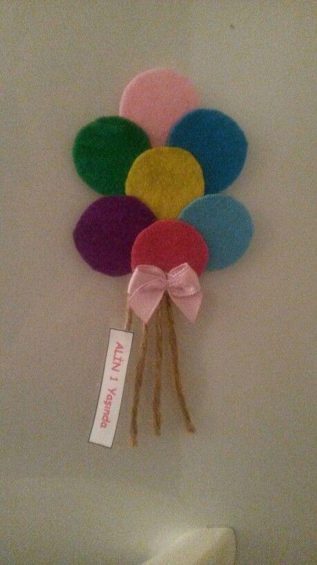 #Keçe doğum günü hediyelik #keçe magnet