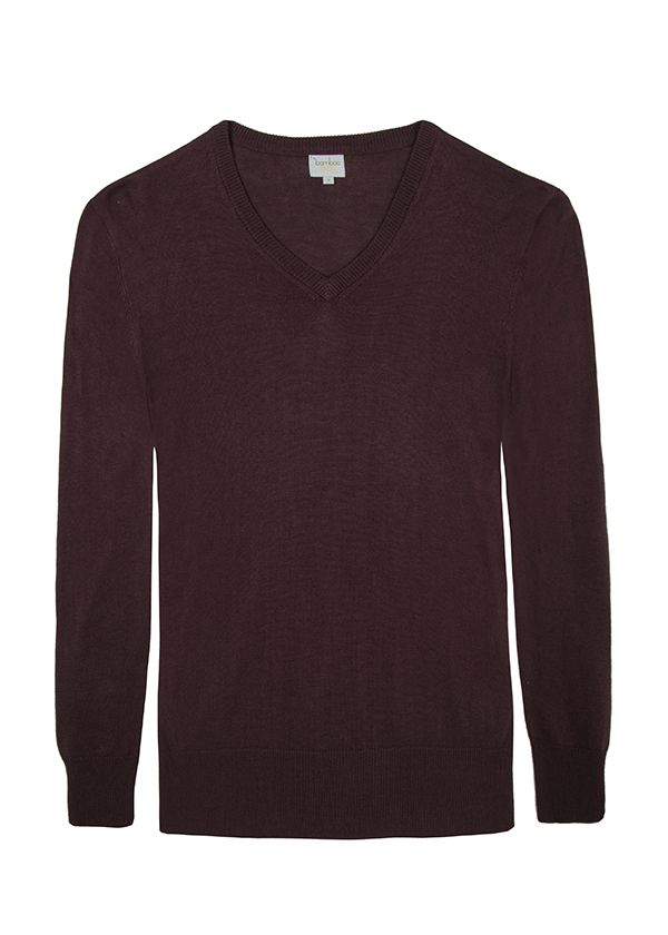V Neck Bamboo Cashmere Wool Knit