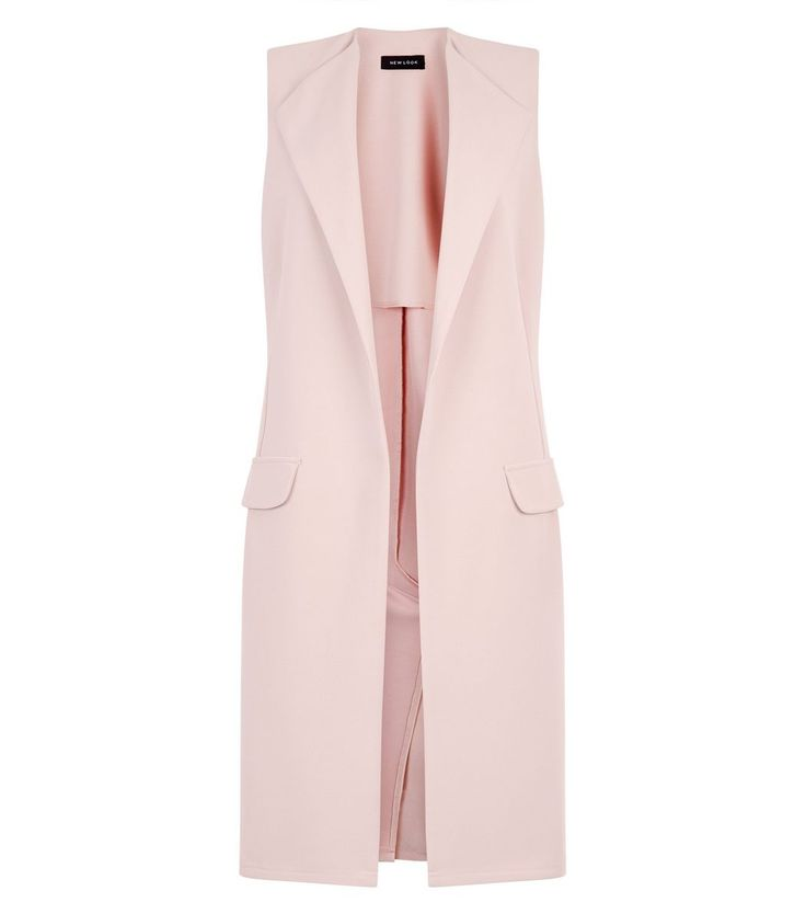 Shell Pink Double Pocket Sleeveless Jacket | New Look