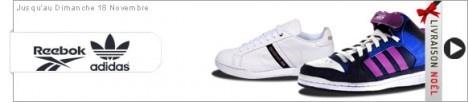 Vente privée Adidas – Reebok : ADIDAS et REEBOK répondent présents dans le monde du sport. Ces marques sportswear vont vous rassurer et assurer des collections de baskets pour HOMME, FEMME ET ENFANT sans faute de goût en vente privée. A prix SACRIFIÉS.