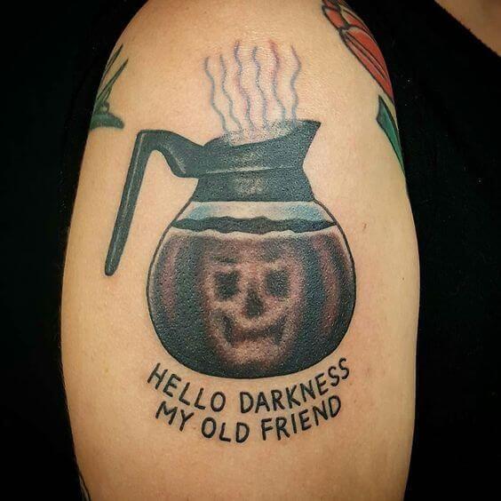 Coffee Pot Simon and Garfunkel Tattoo