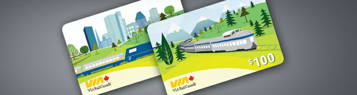 Give the gift of travel with a VIARail gift card (don't forget to toss in a $20 bill for train wine!)
