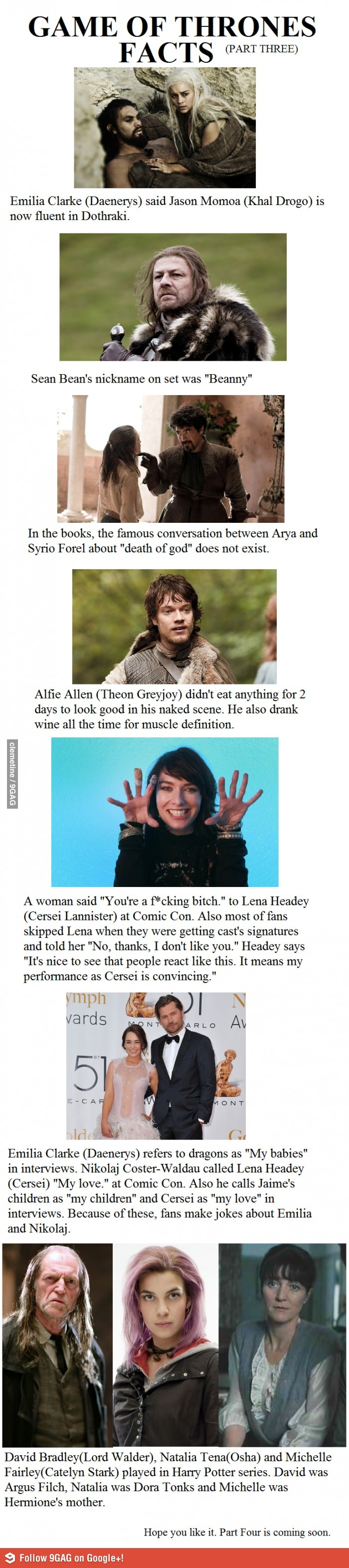 Harry Potter Book Monologues ~ Game of thrones facts part harry potter movies