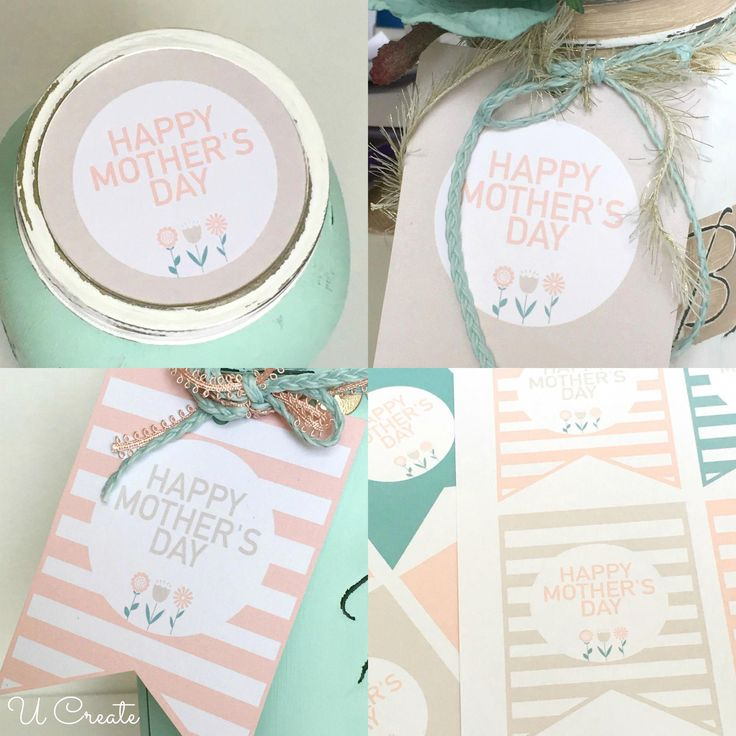 Free Printable Mother's Day Tags and Jar lids by U Create