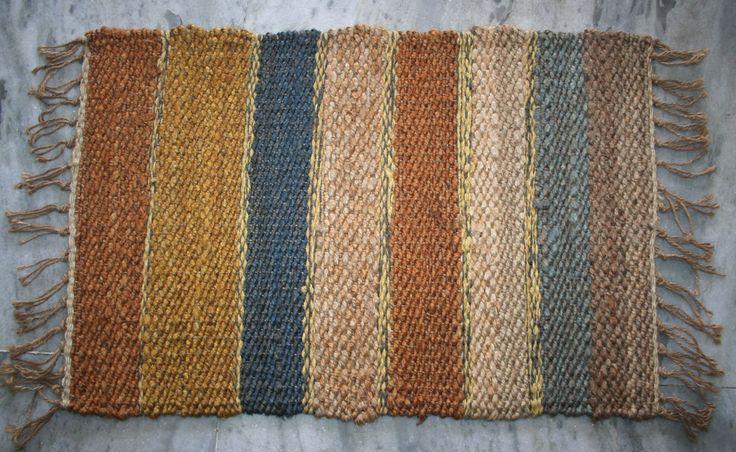Handwoven Jute Door Mat Small Solid Floor Mat Turkish Rugs Doormats 40x60Cm EDH #Unbranded