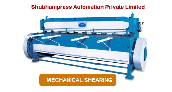 Are you looking for Mechanical Shearing Machine which are well designed and with top quality. Buy latest Mechanical Shearing Machine in india at wholesale price. contact us now in order to buy Mechanical Shearing Machine. VISIT : http://www.shubhampressautomation.com/mechanical-shearing-machine.html or CALL@ +91-9811257409 / 8750402229