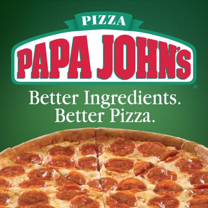 Papa John's Medium 1Topping Pizzas 5 Each (+ Free Large