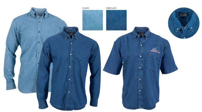 Camisa de mezclilla fabricada con tela de gran calidad para uniformar a los empleados y brindar una gran imagen profesional. Más información aqui:  http://www.lazzarmexico.com/catejecutivos/modelos/camisa/mezclilla.html