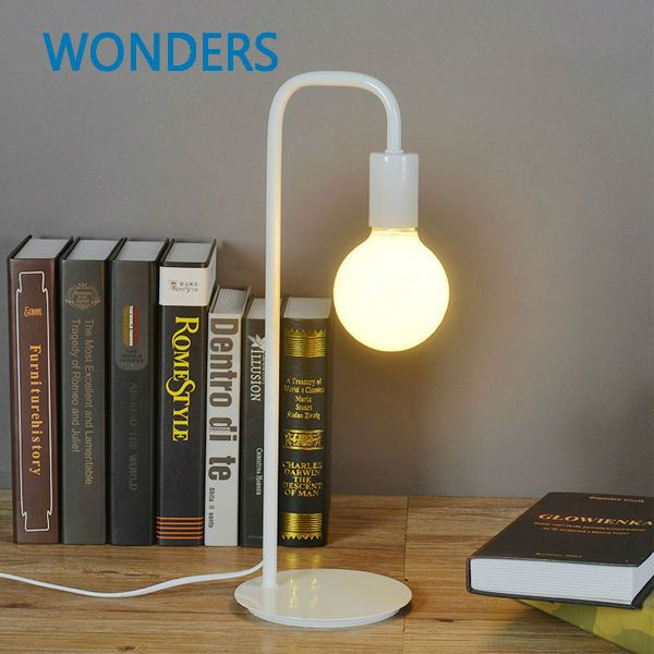 Moedern  Simple Fashion Iron Metal Paint  Desk Lamps Bedroom Bedside Reading Table Lamp Night Lighting Children Learning Light #Affiliate
