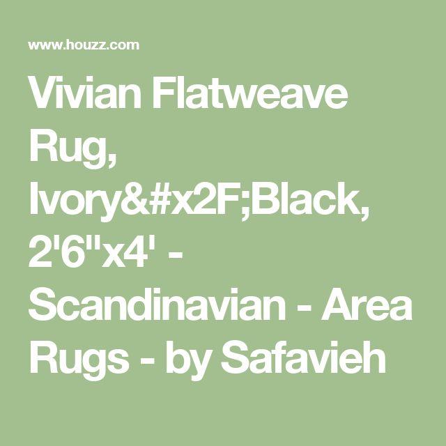 """Vivian Flatweave Rug, Ivory/Black, 2'6""""x4' - Scandinavian - Area Rugs - by Safavieh"""