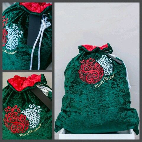 Tradional Green Christmas Sack. Perfect addition for under the tree. LOVE... www.thegiftsack.co.za
