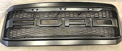 1999-2004 Ford F250 F350 Super Duty 16 Raptor-Style Packaged Grille WITH FORD