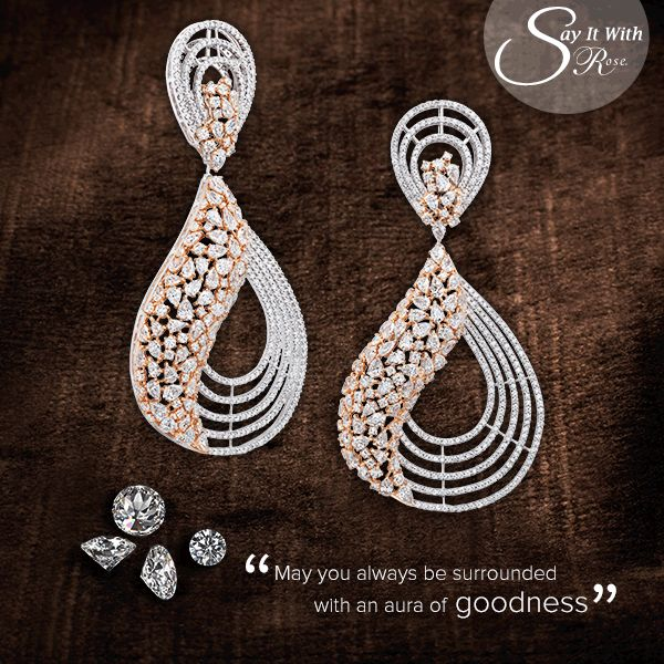 To enquire, browse through our collection or book an appointment with us, head here : www.facebook.com/... ; bit.ly/SayItWithRose.  Translucent in appearance, #Diamonds denote sheer purity. #Gift the goodness to your loved ones. This Diwali, say it with Rose. #SayItWithRose