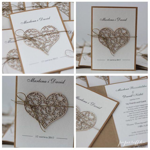 papieroffka zaproszenia na ślub stylowe vintage rustic