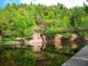 Black River suspension bridge: My father in law performed a wedding in the middle of this bridge in January of 1980. The couple met there and wanted a memorable wedding. Was it ever! MIchigan's UP is not conducive to outdoor weddings in January. 8 feet of snow to get to the bridge