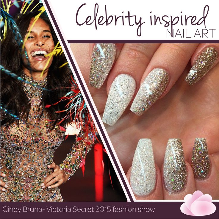 Bling it up girl! You can't go wrong with these glamourous glitter ‪#‎nailart‬ on the runway and an everyday outfit. Do you agree? ‪#‎WCW‬ ‪#‎CelebInspired‬ ‪#‎VictoriaSecret‬