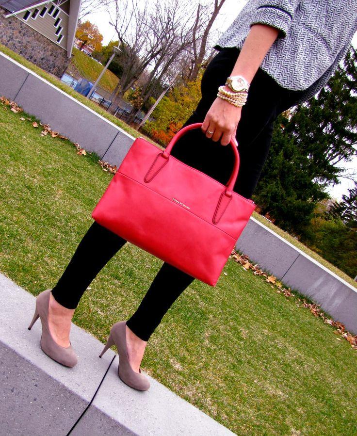Authentic Coach Borough bag, new with tag. Price 360.00$. FashionWoo ship throughout Canada and US. #fashionwoo #fashionista #fall2015 #coach #work #ootd