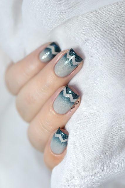 Marine Loves Polish: Gradient & chevrons tips nail art [VIDEO TUTORIAL] - IEUV #imanatural & My Area of Expertise