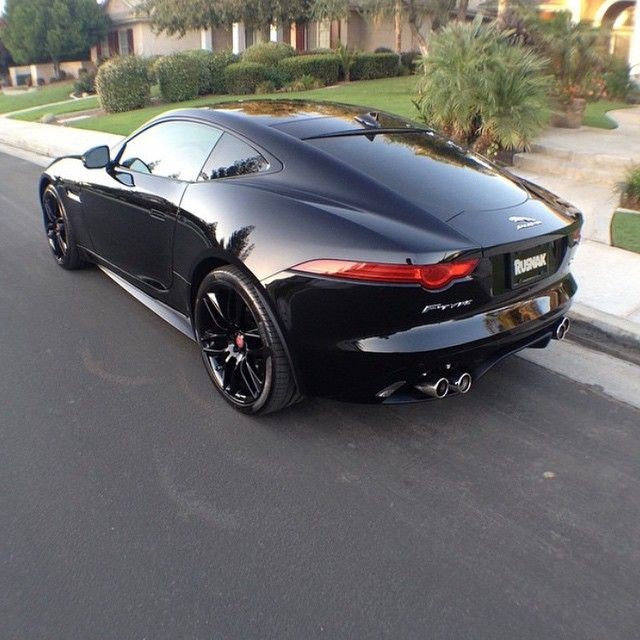 """@amazingcarscali's Blacked Out #Jaguar F-Type • Follow @amazingcarscali for more pics"""