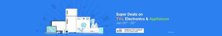 #Flipkart #RepublicDay #Sale Is Offering Exclusive And Best #Deals On Televisions. Get Upto 65% OFF On Popular Television Brands Including Sony, #Samsung, LG, Philips, Kodak, Micromax, VU, #Panasonic, Sansui And Many More. Also Get Additional 10% #Cashback On Citi Bank Credit Cards.