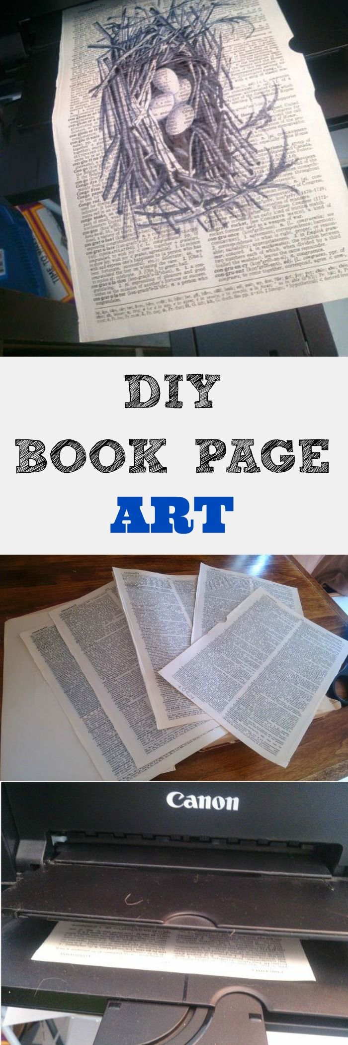 This is such an easy way to recreate the latest trend in book page art for a fraction of the cost.