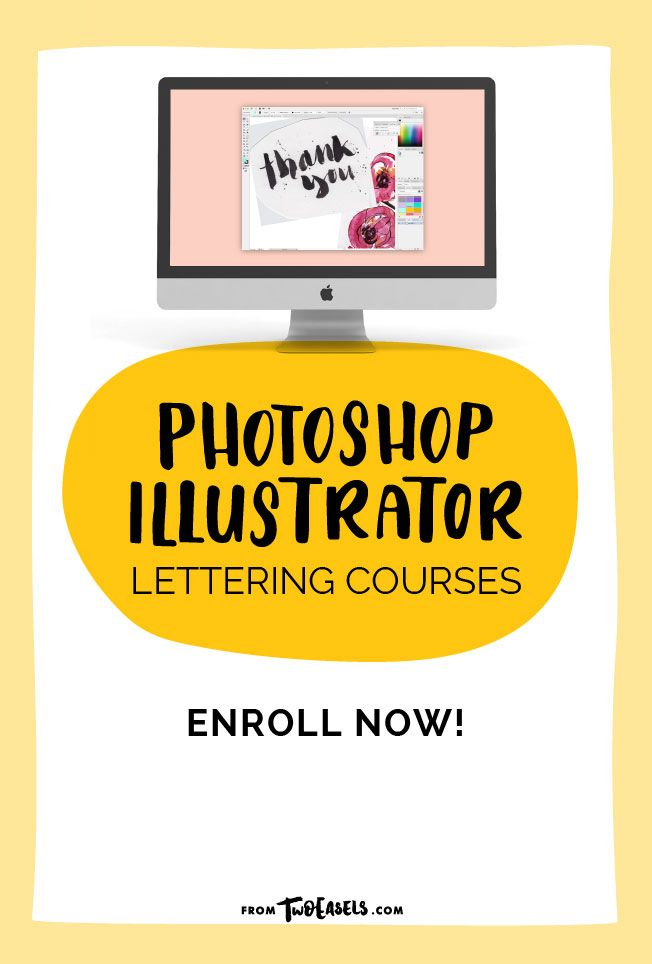 Do you want to sell prints of your lettering, create phone cases, cups,  t-shirts, logos or simply post pretty pictures to Instagram? Then you, my  friend, need to learn Photoshop and Illustrator yesterday.