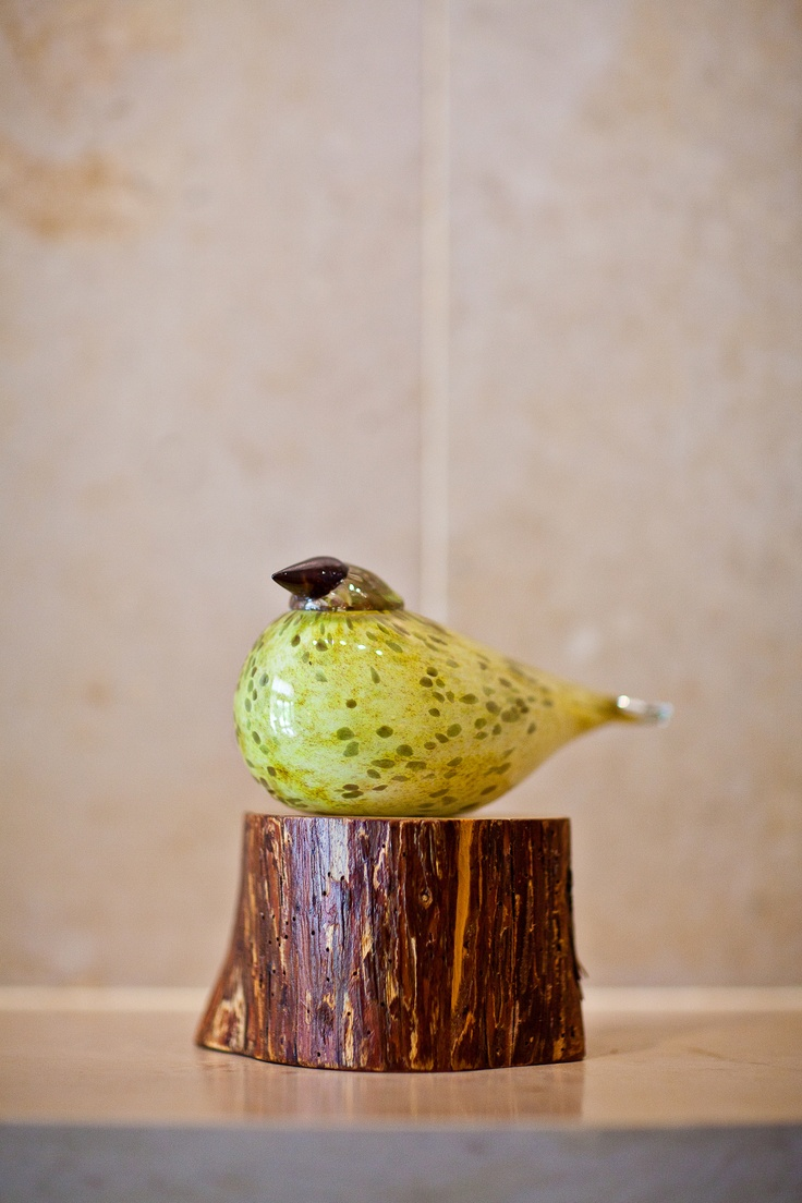 """Willow"", The Umstead's custom Oiva Toikka glass bird available exclusively at The Gift Shop at The Umstead Hotel and Spa."