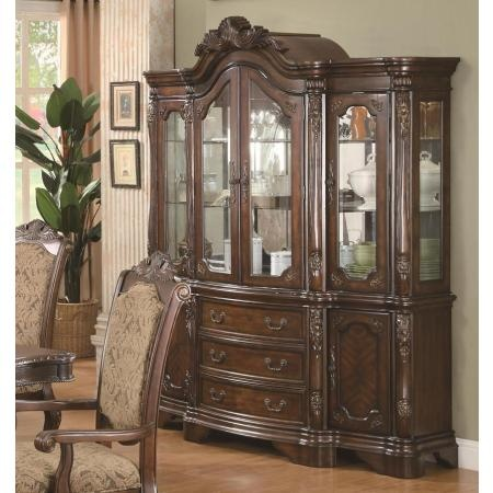 Coaster Furniture 103114 Andrea Dining China Hutch And Buffet In Brown Cherry