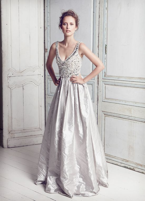 Silver Wedding Dress Ideas : 95 best silver weddings images on pinterest