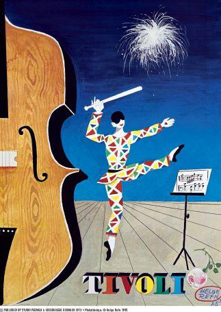 Helge Refn - Tivoli plakat 1985