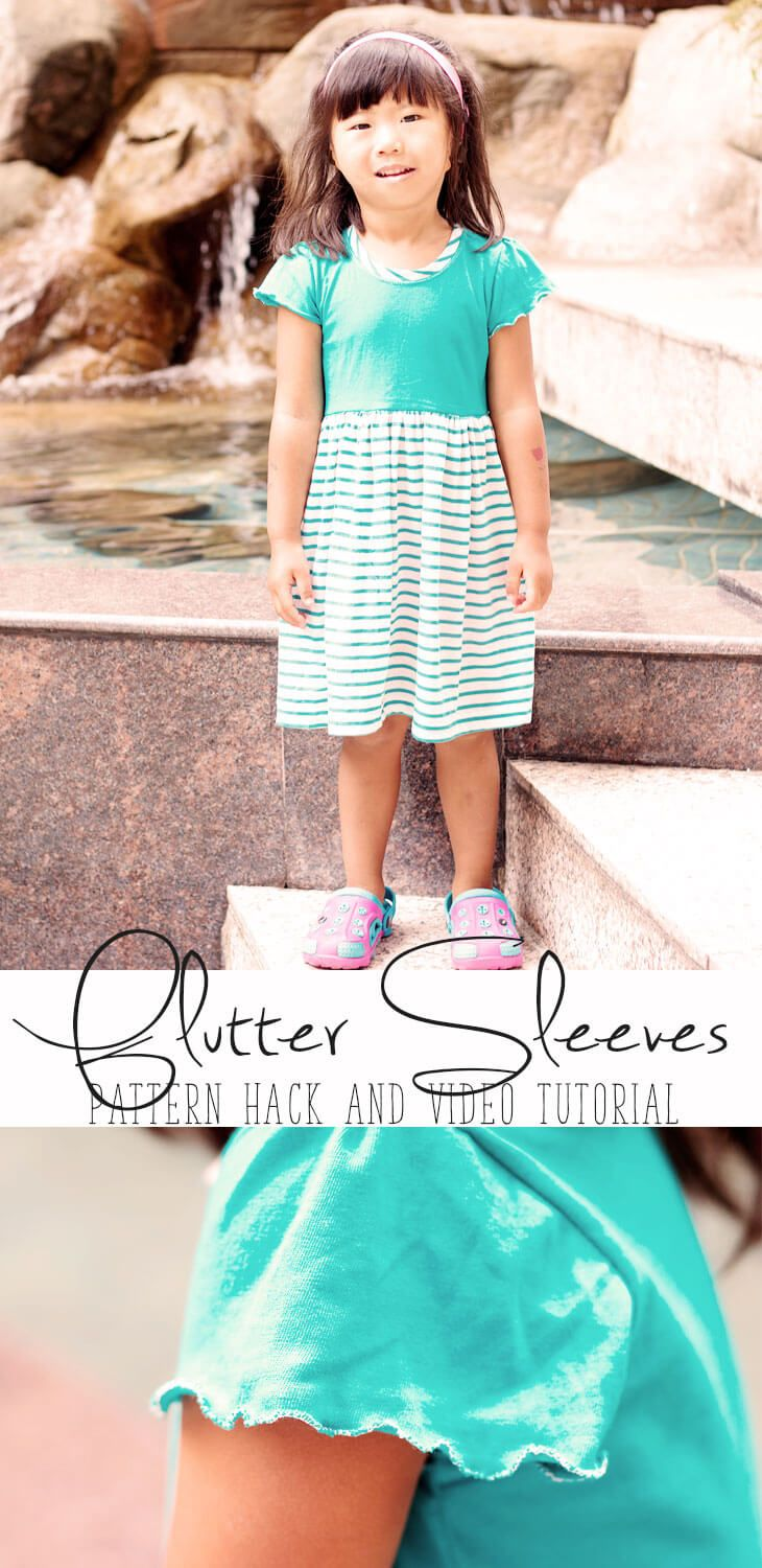flutter sleeves pattern hack and video tutorial from Life Sew Savory