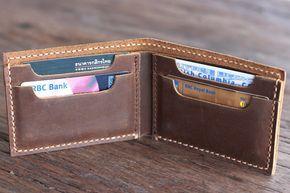 Wallet Personalized Men's Leather Bifold Wallet por JooJoobs
