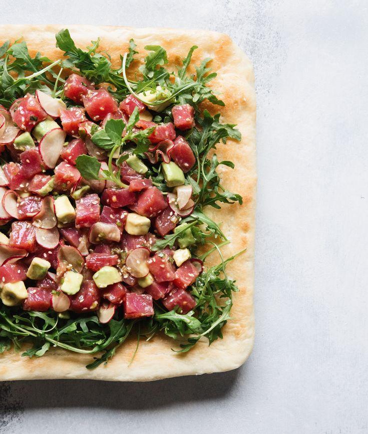Ahi Tuna Poke Pizza | MyRecipes