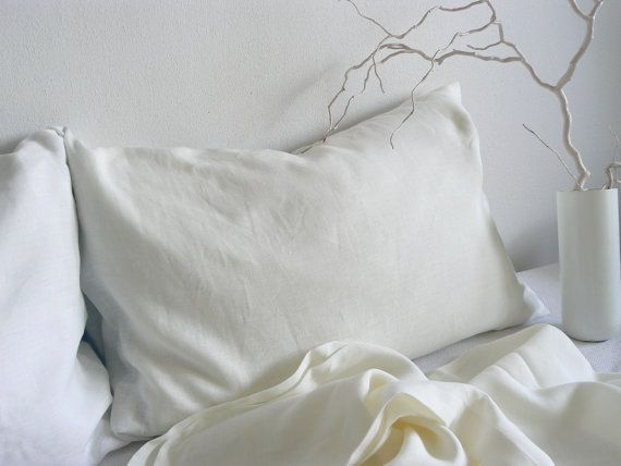 White Linen sheets queen size 100 % linen sheets by ShumaHandmade